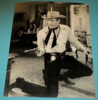 "8X10 PHOTO WARNER BROS TV WESTERN STARS ON ABC /""MAVERICK/"" /""LAWMAN/"" BB-488"