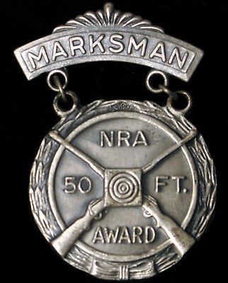 NRA National Rifle Association PRO-MARKSMAN Award Medal Shooting Sports Firearms