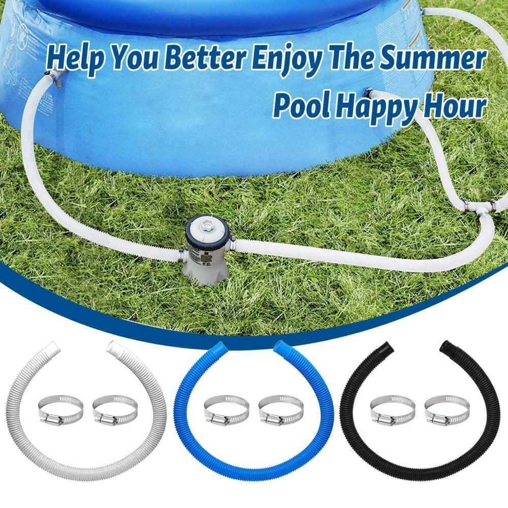 1.5M Tube 32mm Hose Clamps Kit Replacement for Swimming Pool Filter Pump Heater