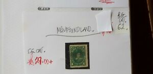NEWFOUNDLAND-1C-PRINCE-OF-WALES-GREEN-STAMP-G-U