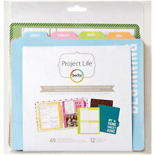 Project Life WEEKLY PLANNER 6x8 FILLER PACK scrapbooking 97722 PAGES & DIVIDERS