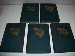 Lot-5-Vintage-Volumes-THE-WORKS-OF-WILLIAM-MAKEPEACE-THACKERAY-by-Collier