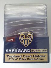 SafTgard Top Load Rigid Card Protector 3x4 1.5mm Thick Package Of 25 Premium NIP