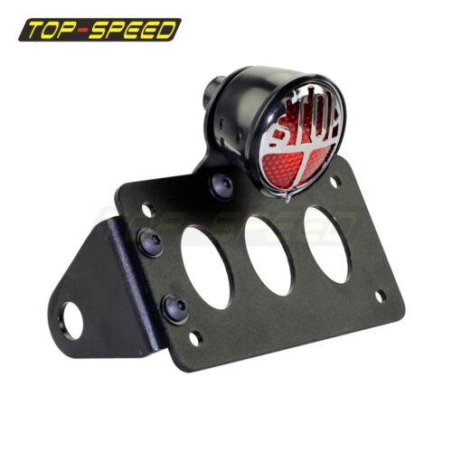 Taillight Mount License Plate Bracket  Black Motorcycle Billet Universal New