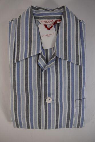 Rose Coton Ouvert Lignes xl M AR Longues Coton Tg l xxl 3xl Flanelle Pyjamas Derek eWQodrCxB