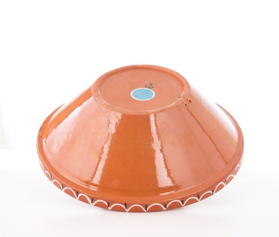 Keramik, Stor retro håndmalet skål