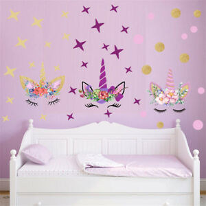 Details about Creative Stars Wall Stickers For Girls Bedroom Flowers Wall  Decals TO