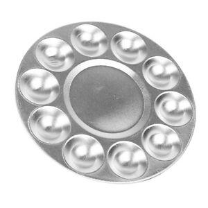 1-Stueck-DIY-Handwerk-Aluminium-Kuenstler-Palette-10-Wells-Runde-Palette-Ol