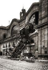 Accident ferroviaire 1895 Train Gare Montparnasse Paris - repro photo ancienne