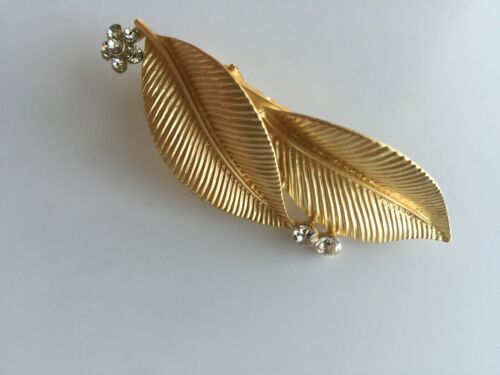 Women Girl Retro Boho Party gold color Metallic Olive leaves Hair Head pin Clip