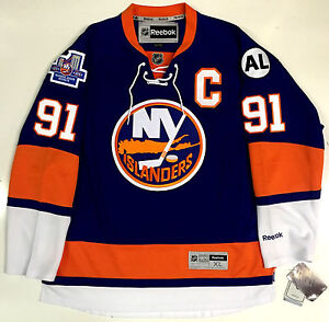 check out c206a c066a Details about JOHN TAVARES NEW YORK ISLANDERS 2015 HOME INAUGURAL SEASON  REEBOK PREMIER JERSEY