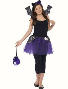 Details about Zombie Gothic Bat Girl fancy dress costume Halloween outfit  13 , 14 Girls Teen