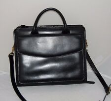 Franklin Covey Black Leather Briefcase Classic Planner Organizer Purse case