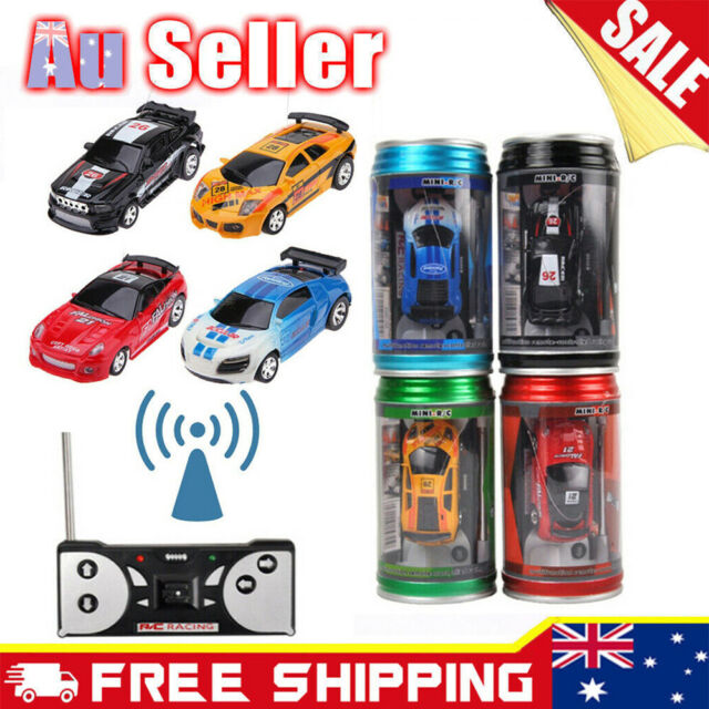 Mini Electric Remote Control RC Speed Racing Car In Coke Can Car Kid Toy Gift AU