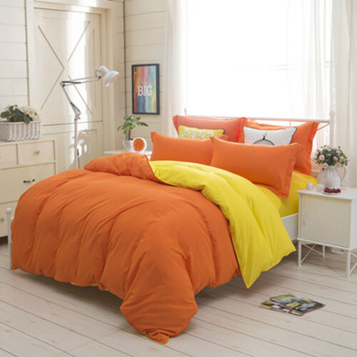 4 Sets Fitted Multicolor Couple King Size Bed Sheet Cover Quilt Cover Bed Linens