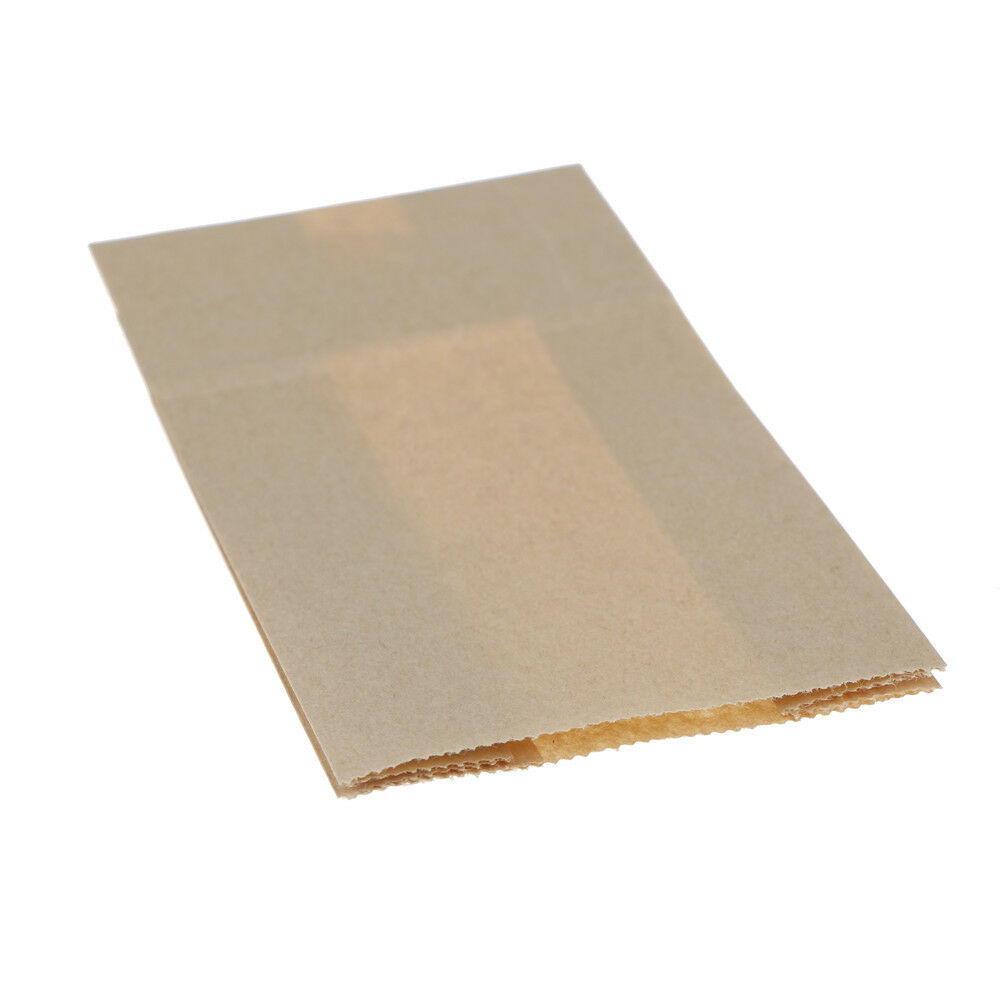 10pcs Vintage Brown Kraft Paper Bags Gift Food Bread Candy Party Bags E/&F