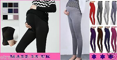 Womens Full Length Maternity Cotton Leggings Comfort Pregnancy Wear *mtrlgs Attraktive Mode