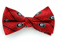 Georgia Bulldogs Oxford Mens Bow Tie Adjustable Neck College Logo Red Bowtie