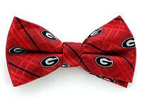 Georgia Bulldogs Oxford Mens Bow Tie Adjustable Neck College Logo Red Bowtie