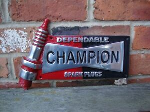 Champion sign spark plug Sign champion cast aluminium discontinued VAC148