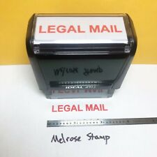 Legal Mail Rubber Stamp Red Ink Self Inking Ideal 4913