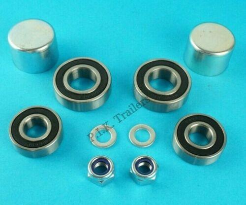 1 Axle Wheel Bearing Kit Dust Caps Nut Washer Erde Motorbike Trailer PM300  #125