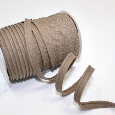Natural 77 Cotton Medium Bias Piping Plain Linen Insertion Trim Flanged A