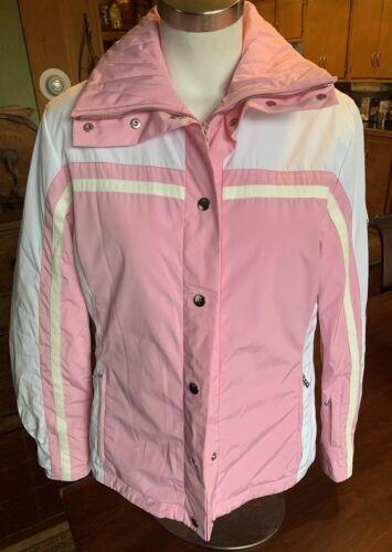 Ski Parka 6 Kvinders Pink Størrelse White Broderet Bogner Jakke n8xnZ
