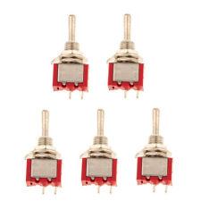 5pcs Onoff Sub Miniature Small Mini Electrical Toggle Switch Spst 2 Pin