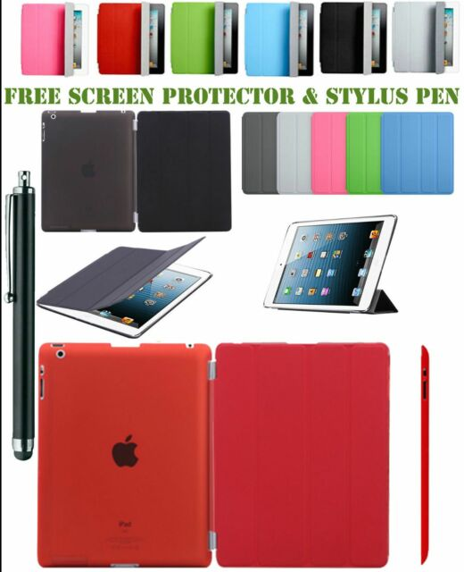 New Smart Stand Magnetic Leather Case Cover For APPLE iPad Air 4 3 2 iPad Mini 4