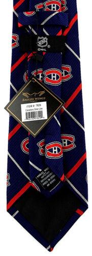 Montreal Canadiens Silk Men/'s Necktie NHL Ice Hockey Licensed Blue Neck Tie
