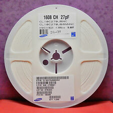 CL10C270JB8NNNC Capacitor Multilayer MLCC COG 27pF 50V 0603 Reel of 4000 SAMSUNG