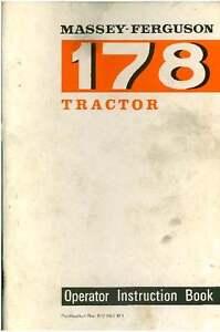 massey ferguson tractor 178 operators manual mf178 ebay rh ebay co uk User Manual Guide Farm Equipment Manuals
