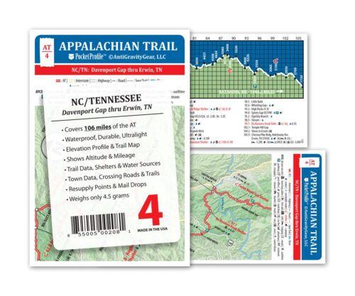 Appalachian Trail Map AT-4 Davenport Gap Erwin AT Pocket Profile