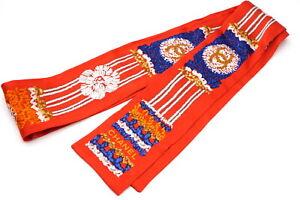 CHANEL-Twilly-Ribbon-Scarf-Coco-Mark-CC-Logo-100-Silk-Knit-Red-2766k