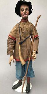 2v7: Barock Glieder-Krippenfigur Hirte 45cm süddeutsch Österreich Italien?~1760
