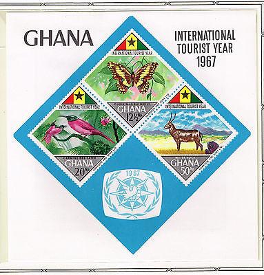 Gewidmet Ghana Afrikanische Fauna Wilde Tiere Souvenir Blatt 1967 Mnh Cv $ 35 Eleganter Auftritt