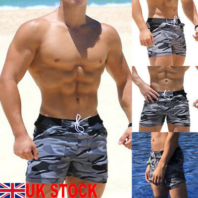 0cdc2b647 Details about UK Mens Swim Fitted Shorts Bodybuilding Workout Gym Running  Tight Lifting Shorts
