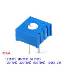 3386p Cermet Variable Resistors Potentiometer Preset Trimmer Pot 1k Ohm100k Ohm