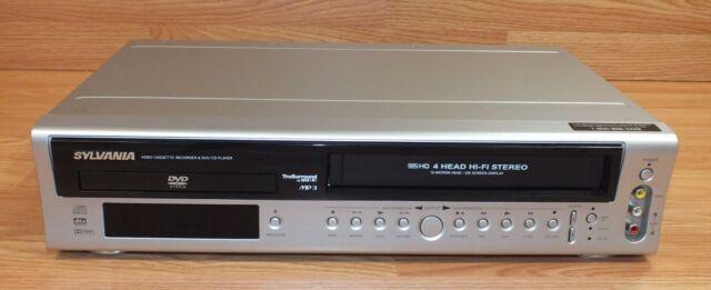 *FOR PARTS* Sylvania (DVC850C) Pan & Scan DVD Player W/ 4-Head Hi-Fi VCR Combo