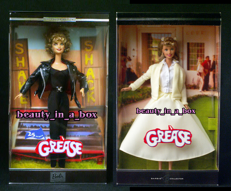 Muñeca Barbie Grasa Sandy Negro Amarillo 25th aniversario Olivia Newton John Exc