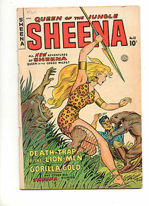 Sheena-Queen-of-the-Jungle-10-1950-Fine-6-5-NICE-1-Matt-Baker-Cover-2-3
