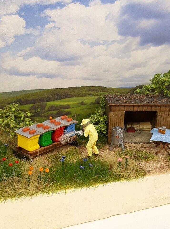 Diorama con cubierta artículo de colección h0 1 87 apicultura apicultura Handmade