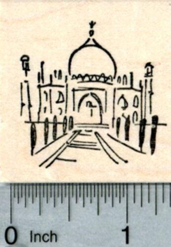 Small Taj Mahal Rubber Stamp India World Travel Series D33221 WM