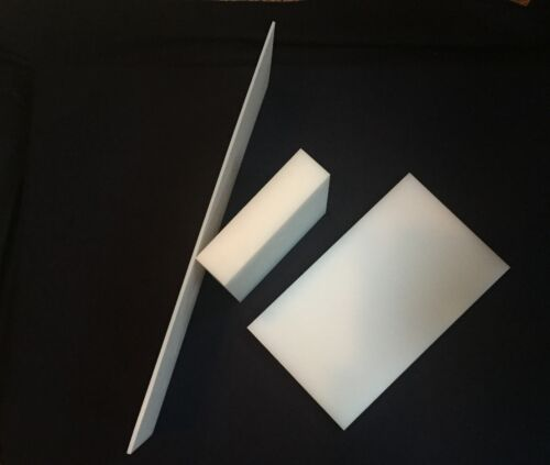 """Priced//Square Foot Cut to Size! 2/"""" White HDPE Plastic Sheet"""