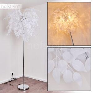 Retro LED Steh Lampe Wohn Zimmer Stand Lese Leuchte Textil Flur Beleuchtung weiß