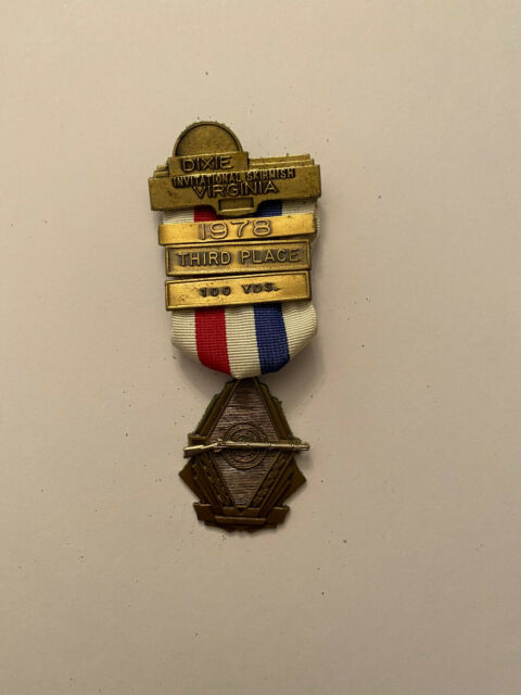 1978 Dixie Skirmish Civil War Reenactment Musket Rifle Medal Confederate Union