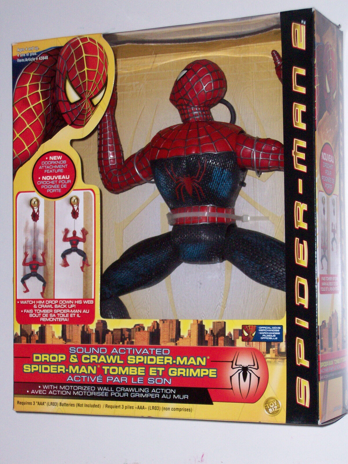 AMAZING SPIDERuomo 2 suono ACTIVATED DROP & CRAWL cifra MIB giocattolo BIZ MARVELNOW1
