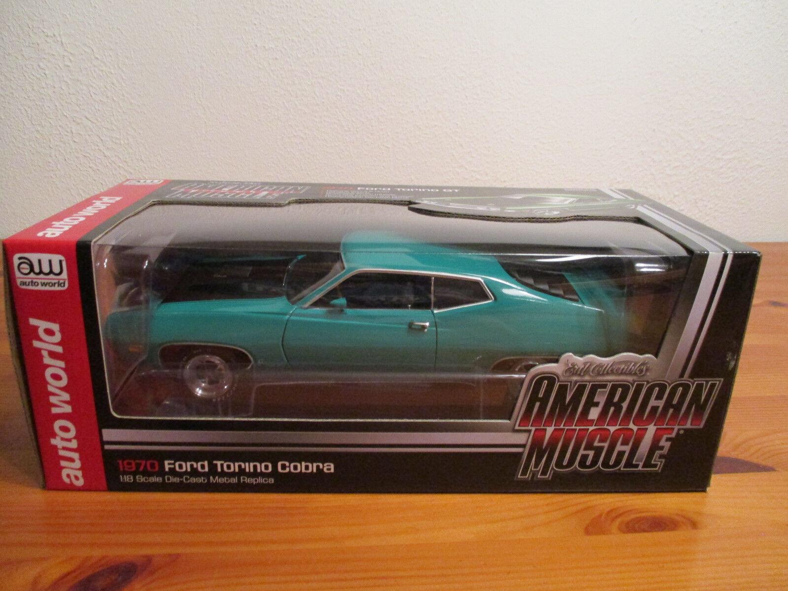 1:18 ERTL American Muscle 1970 FORD TORINO Cobra nouveau neuf dans sa boîte | Simple D'utilisation  | Art Exquis  | Finement Traité