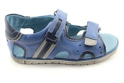Kornecki Boys Leather Open Toe Sandals with Arch and Ankle Support 03747
